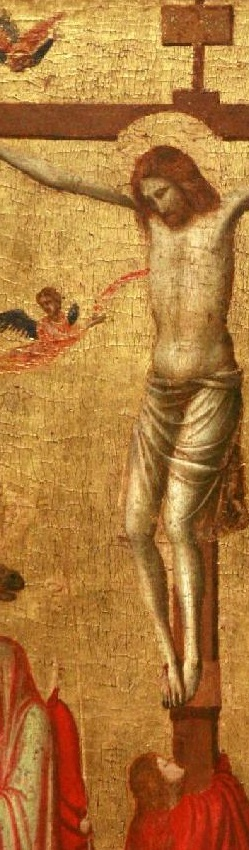 This image is from a Giotto crucifixion scene.  St Luke members were inspired by a recent visit to the Giotto exhibit at the Getty.